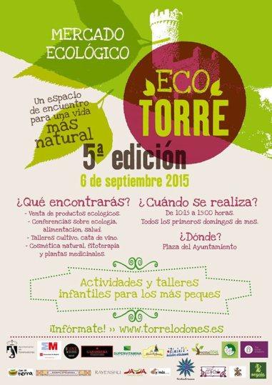 Ecotorre: El domingo 6 de septiembre vuelve el Mercado Ecológico de Torrelodones