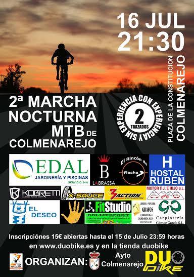 Cartel II Marcha Nocturna de Colmenarejo