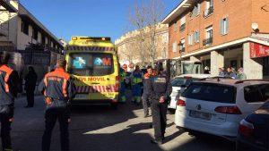 Accidente Laboral c/Carlos Picabea de Torrelodones (Foto: 112 Comunidad de Madrid - Twitter: @112cmadrid)
