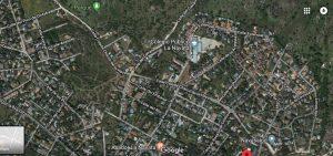 Tramo de la calle Colada Charco de la Hoya a urbanizar (Imagen de Google 2018 con datos del mapa del Inst. Geográfico Nacional)