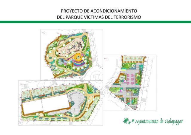 Proyecto acondicionamiento Parque Víctimas del Terrorismo en Galapagar