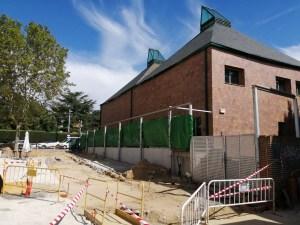 """Obras de la futura """"Caja de Cultura"""", nueva biblioteca municipal de Torrelodones"""