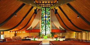 Church Sanctuary with industrial audio