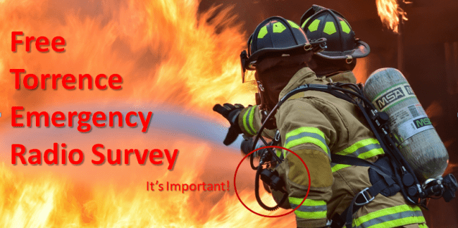 Free Torrence Emergency Radio Survey