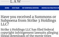 Strike 3 Holdings ISP Subpoena