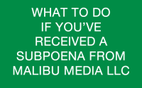 Malibu Media Lawsuit Information