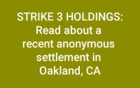Strike 3 Holdings Lawsuit and Anonymous Settlements