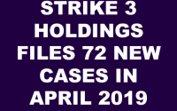 Strike 3 Holdings LLC Subpoenas April 2019