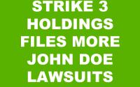 STRIKE 3 HOLDINGS JOHN DOE