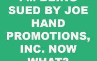 Joe Hand Promotions, Inc.