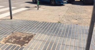 Malestar por la situación del parque infantil y los solares de la calle Foyeta