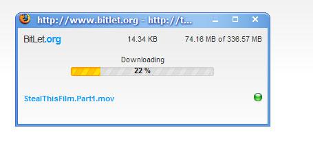 BitLet Download Status