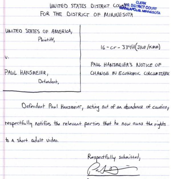 hansmeier letter