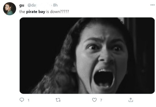 pirate bay down tweet