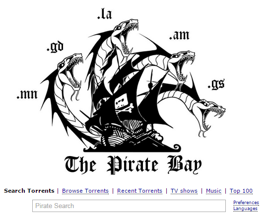 Pirate Bay Moves to GS, LA, VG, AM, MN and GD Domains