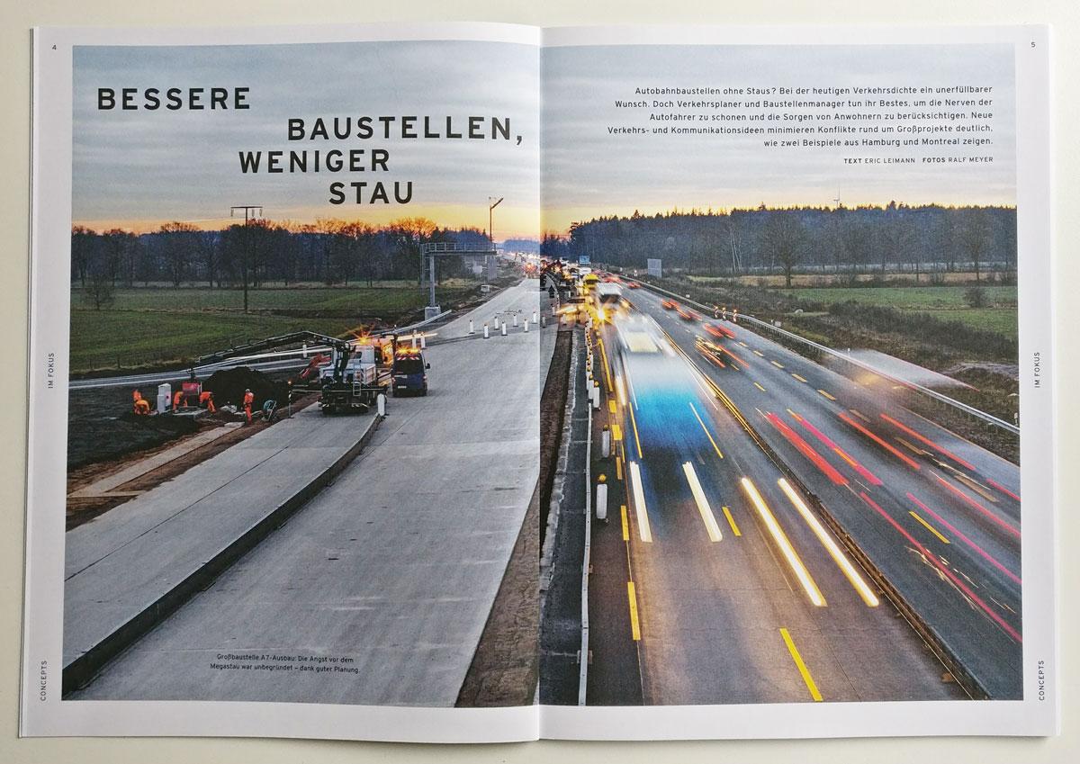 Autobahnbaustellen besser gestalten, concepts 1/2017