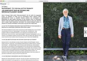 Interview Prof Dr. Dr. Manfred Moldaschl, Torsten Meise Kundenmagazin concepts by Hochtief 2018