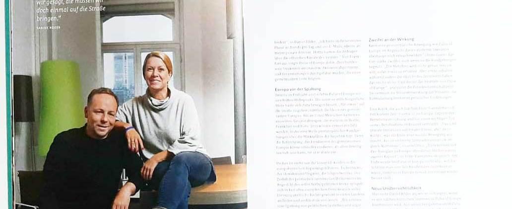Sabine und Daniel Röder, Pulse of Europe Gründer, Change Magazin 1/2019
