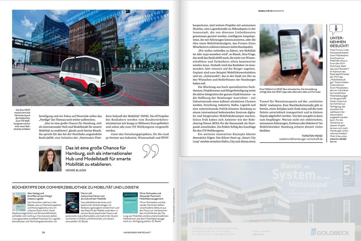 Artikel zum ITS Weltkongress 2021 in Hamburg