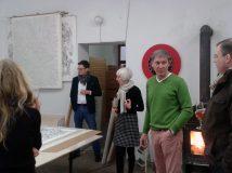 Atelieransicht mit Gästen, Ingo Fröhlich