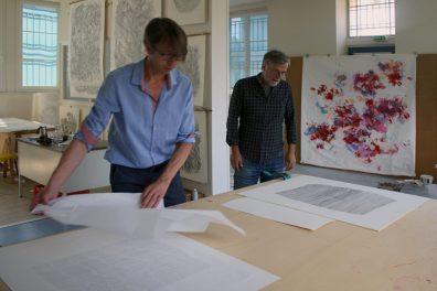 Ingo Fröhlich, Edouard Papierski, Atelieransicht
