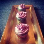 Vörös áfonyás cupcake recept