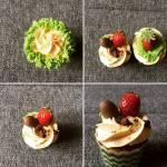 Epres fehér csokoládés cupcake