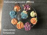 Halloween cupcake díszítés vajkrémekkel