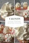 Csorgatott cupcake Valentin napra