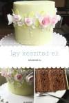 Virágos torta készítése