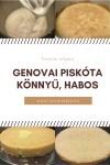 Genovai piskóta, könnyed, habos, finom:-)