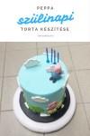 Peppa torta készítése,