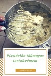 Pisztáciás, tökmagos tortakrém receptem