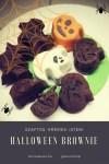 Halloween brownie készítés