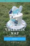 Valentin napi tortadíszítés kékben:-)