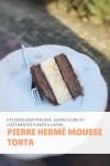 Pierre Hermé, mousse tortája, csokoládé, citrom, liszmentes piskóta