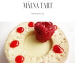 Málnás, vaníliás tart, glazúrral