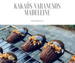 Kakaós narancsos madeleine
