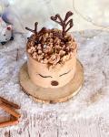 Karácsonyi rénszarvas torta