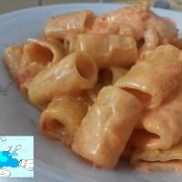 Mezze maniche in crema di peperoni e gorgonzola al mascarpone
