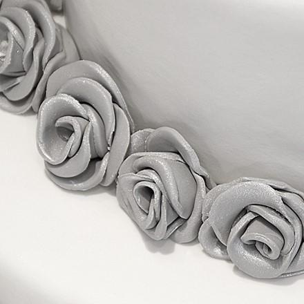 Hochzeitstorte mit Rosen 3stckig