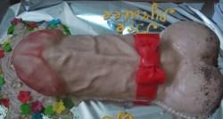 #в200 (14) торт на девичник член с бантиком