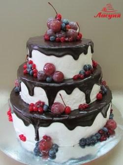 #п150(47 шоколадный торт с фруктами