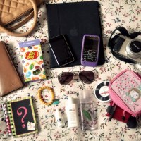 Inside a blogger's bag