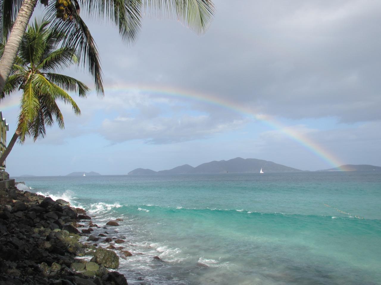 Rainbow in Apple Bay