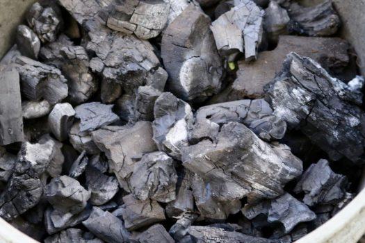 bucket of barbaque coal