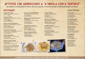 Fiera del tartufo di San Sebastiano Curone. A tavola con il tartufo
