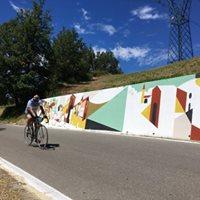 Murales Ultimo chilometro di Riccardo Guasco a Castellania