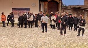 Il sistema museale di Volpedo. Turisti in piazza quarto stato