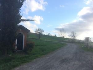L'imbocco della Rampina a Villaromagnano